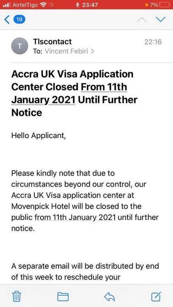, Ghana's UK visa Application Centre Closed, BRAND ELMINA